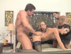 Blonde Nikki Daniels gets throat fucked by mans throbbing snake