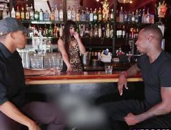 2 Horny Black Dudes Tag Team Breasty Latina Bartender Mercedes Carrera