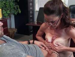 Hot milf McKenzie Lee with slim figure and incredible big round tits is his sexy teacher that doesnt mind taking his cock in her pussy. She strokes his rod with her juggs before it comes to slit banging