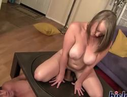 Slutty playgirl receives a beating cock
