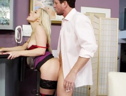 Blonde exotic Preston Parker is on the edge of nirvana with dudes erect love wand in her aperture