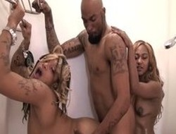 Best pornstar in exotic threesome, large tits adult clip