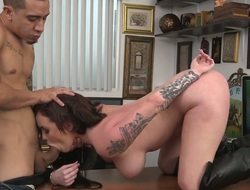 A oral-job in the office
