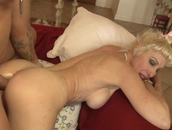 Blonde Dalny Marga with giant tits screams from endless orgasms after taking dudes palpitating rod in her love tunnel