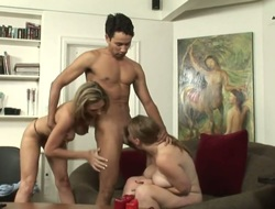 Stacked chick Roxanne Hall has some dirty dreams to be fulfilled with chaps stiff meat pole in her throat