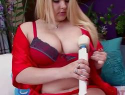 Tatyana Lewis with the hitachi wand