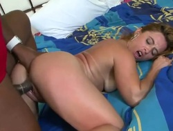 Blonde chicana Jbrown with round arse and bald bush receives drenched in cum in steamy cumshot scene