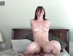 Brunette slavers over this hard cock