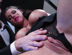 With juicy boobs gets her vagina attacked by Danny Ds stiff fuck stick