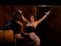 Bodacious nympho Dru Berrymore exploring her slavery fetish fantasy