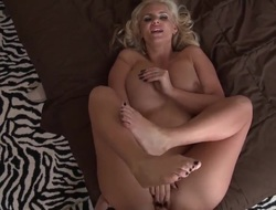 Huge ass golden-haired is in for a ride