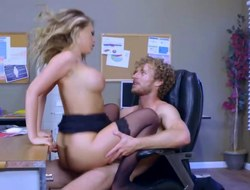 Kagney Linn Karter getting coarse pounding on office desk