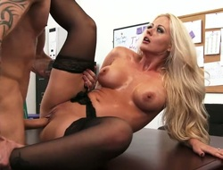 Blonde asian is totally addicted to cum