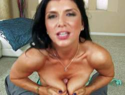 Romi Rain is a darksome haired sexy woman with perfect fuckable large melons. That babe gets her love muffins banged and takes guys meaty sausage in her mouth form first person perspective. Romi Rains tatas will take your breath away!