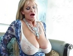 KELLY MADISON - Teasing in Blue Lingerie and Titty Fucking