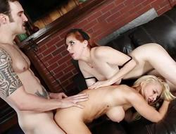 Sexy Alix Lynx and Penny Pax fuck in threesome