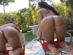 Raunchy wench can't live without wild anal pounding on camera