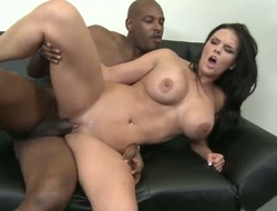Mackenzee Pierce shows off her hawt body as she acquires shagged wonderful and hard by excited stud in interracial porn action