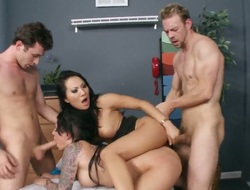 James Deen Erik Everhard likes getting her pussy ploughed interracially by hot stud