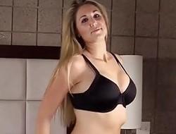 Large Boob Blonde Babe Amazing Porn Debut