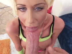 A wannabe porn star is trying to make it in the biz. Riley Jenner gives a blow job and then takes on a dong deep inside her ass. That babe can stand the punishment.