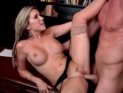 Blonde hooker Courtney Cummz with big booty getting face pounded for your viewing fun