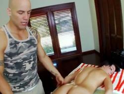 Large ass gets a sex massage